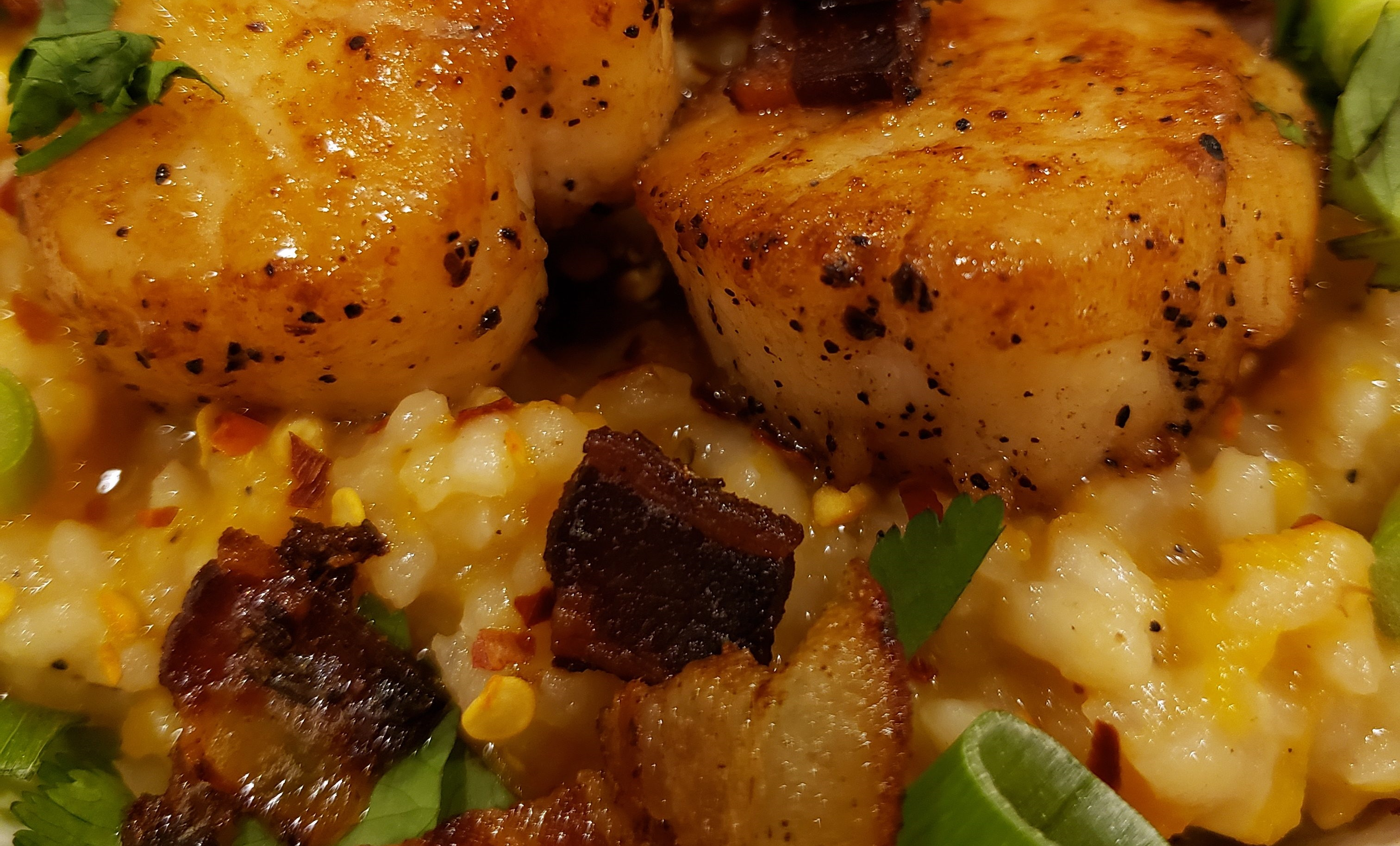 Butternut Squash Risotto with Pan Seared Scallops